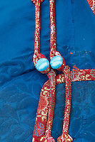 Mongolie. Province de Tov. Boutons de deel, le costume traditionel. // Mongolia. Tov province. Deel, national costume, button.