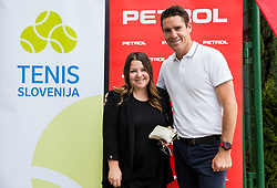 Tjaša Kolenc Filipčič and Gregor Krušič at Petrol VIP tournament 2018, on May 24, 2018 in Sports park Tivoli, Ljubljana, Slovenia. Photo by Vid Ponikvar / Sportida