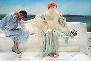 A painting of Pyramus and Thisbe entitled Ask Me No More (1906) by Sir Lawrence Alma-Tadema (1836-1912).