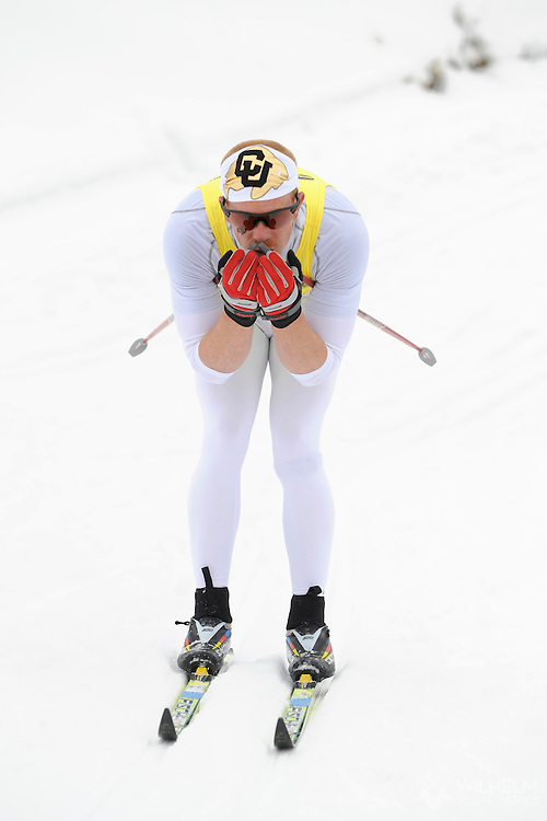 11 MAR 2010: Matt Gelso of the University of Colorado competes in the Men's Classic Cross Country during the Division I Men's and Women's Skiing Championship held at Howelsen Hill in Steamboat Springs, CO. Gelso finished first to win the national title. © Brett Wilhelm