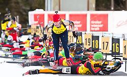 12.12.2010, Biathlonzentrum, Obertilliach, AUT, Biathlon Austriacup, Verfolgung Lady, im Bild am Schiessplatz. EXPA Pictures © 2010, PhotoCredit: EXPA/ J. Groder