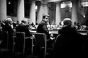 Raffaele Fitto, europarlamentare di Forza Italia, ad un convegno sulle tasse e sulla legge di stabilità al Tempio di Adriano. Roma 27 Novembre 2014.   Christian Mantuano / OneShot