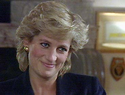 The Princess of Wales talks to Panorama presenter Martin Bashir in an exclusive interview, transmitted on BBC-1 tonight (Monday). See PA story ROYAL Panorama. Video picture from BBC-TV.