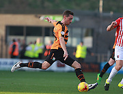 Barnet player Tom Champion launches the ball forward during the Sky Bet League 2 match between Barnet and Exeter City at The Hive Stadium, London, England on 31 October 2015. Photo by Bennett Dean.