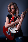 Elise M. - guitars and classic poses