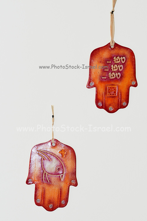 Hamsa - popular amulet for protection from the envious or evil eye On white Background