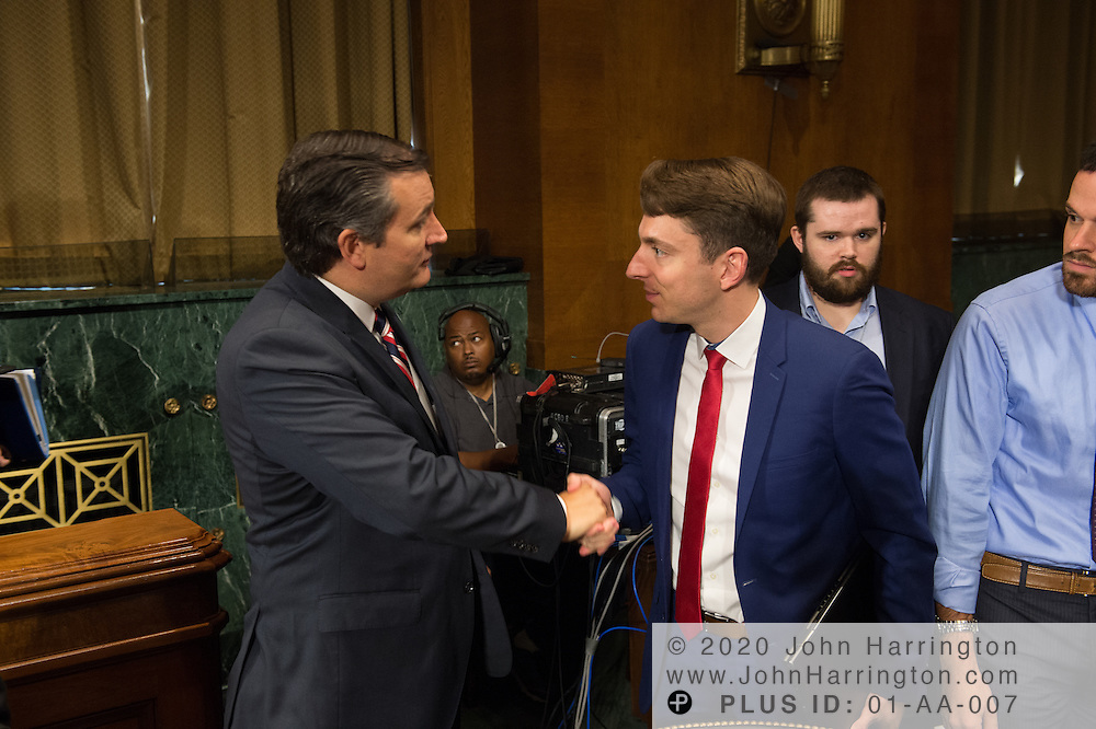 """Sen. Ted Cruz and Mr. Berin Szoka, President, TechFreedom on Wednesday September 14, 2016, before the Subcommittee on Oversight, Agency Action, Federal Rights and Federal Courts, testimony was also heard from The Honorable Lawrence E. Strickling, Assistant Secretary for Communications and Information and Administrator<br /> National Telecommunications and Information Administration (NTIA), United States Department of Commerce;  Mr. Göran Marby, CEO and President, Internet Corporation for Assigned Names and Numbers (ICANN); Mr. Berin Szoka, President, TechFreedom; Mr. Jonathan Zuck, President, ACT The App Association;  Ms. Dawn Grove, Corporate Counsel<br /> Karsten Manufacturing; Ms. J. Beckwith (""""Becky"""") Burr, Deputy General Counsel and Chief Privacy Officer, Neustar;  Mr. John Horton, President and CEO, LegitScript;  Mr. Steve DelBianco, Executive Director, NetChoice; Mr. Paul Rosenzweig, Former Deputy Assistant Secretary for Policy, U.S. Department of Homeland Security."""