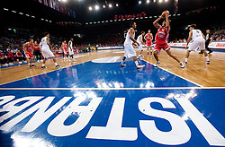 Kresimir Loncar of Croatia during  the Preliminary Round - Group B basketball match between National teams of Brasil and Croatia at 2010 FIBA World Championships on September 2, 2010 at Abdi Ipekci Arena in Istanbul, Turkey. (Photo By Vid Ponikvar / Sportida.com)