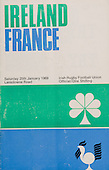 Rugby 1969 - 25/01 Five Nations Ireland Vs France