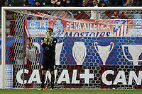 09.12.2012 SPAIN -  La Liga 12/13 Matchday 15th  match played between Atletico de Madrid vs R.C. Deportivo de la Courna (6-0) at Vicente Calderon stadium. The picture show  Daniel?Aranzubia (Player of R.C. Deportivo)