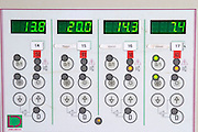 Control panel for temperature control chateau lestrille bordeaux france