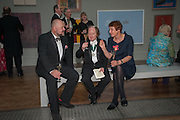 PAUL HEDGE; RICHARD WILSON; CORNELIA PARKER, Royal Academy of Arts Annual dinner. Piccadilly. London. 29 May 2012.