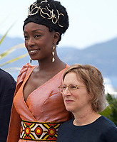 Maimouna N'Diaye and Kelly Reichardt at the  Jury photo call at the 72nd Cannes Film Festival, Tuesday 14th May 2019, Cannes, France. Photo credit: Doreen Kennedy