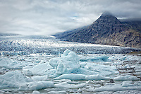 Vatnajokull glacier largest glacier in Iceland and covers 8% of the country.