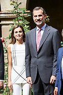 King Felipe VI of Spain, Queen Letizia of Spain visited to the Monastery of Santo Toribio de Liebana on the occasion of the Jubilee Year Lebaniego on July 19, 2017 in Camaleno, Cantabria, Spain