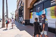 Tourists Shopping Downtown Huntington Beach on Main Street
