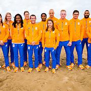 NLD/Scheveningen/20160713 - Perspresentatie judoka's voor de Olympische Spelen 2016 in Rio de Janeiro, teamfoto
