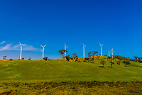 Wind turbines, near Nuwara Eliya, in Uva Province, Sri Lanka.