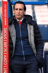 Arsenal manager Unai Emery ahead of the Premier League match at the John Smith's Stadium, Huddersfield.