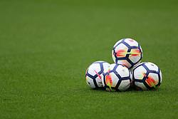 Nike Footballs on the pitch prior to the match