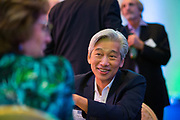 John Luong of Alpha Family Wealth Solutions socializes during the Silicon Valley Business Journal's Annual Silicon Valley Structures Awards event at the Fairmont San Jose in San Jose, California, on September 21, 2017. (Stan Olszewski for Silicon Valley Business Journal)