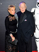 Max Von Sydow has died  age 90<br /> photo at the STAR WARS: THE FORCE AWAKENS, European Premiere in Leicester Square, London