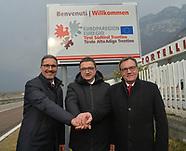 Inaugurazione del cartello di benvenuto Euregio - Hofer  19-02-2020