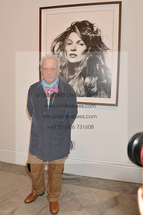 DAVID BAILEY at a private view of photographs by David Bailey entitled 'Bailey's Stardust' at the National Portrait Gallery, St.Martin's Place, London on 3rd February 2014.