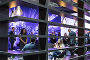 New York, NY, USA-23 March 2016. Auto manufacturers went out of their ways to make the press and industry insiders comfortable. This is the Infiniti lounge.