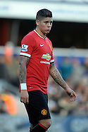 Marcos Rojo of Manchester United looks on. Barclays Premier league match, Queens Park Rangers v Manchester Utd at Loftus Road in London on Saturday 17th Jan 2015. pic by John Patrick Fletcher, Andrew Orchard sports photography.