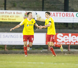 Albion Rover's Ross C Stewart (11) cele scoring their goal. Albion Rover 1 v 2 Airdrie, Scottish League 1 game played 5/11/2016 at Cliftonhill.