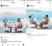 Couple discovers that a woman travels the world to copy their Instagram Photos