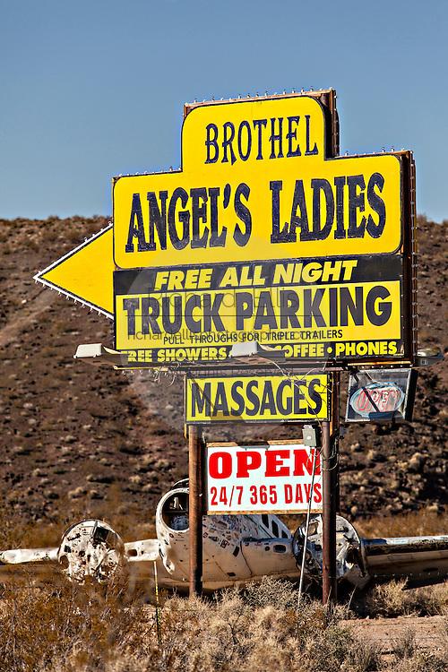 Angel's Ladies legal brothel in Beatty, NV.