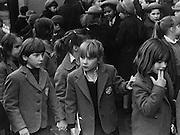 Gathering of English school girls