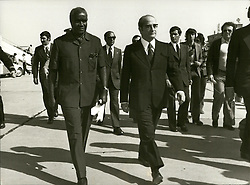 Apr. 04, 1975 - Visit To Portugal Of President Kenneth Kaunda Of Zambia: Kenneth Kaunda with President Costa Gomes at Lisbon Airport. Credits: AEI (Credit Image: © Keystone Press Agency/Keystone USA via ZUMAPRESS.com)