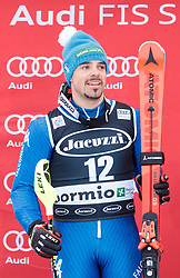 29.12.2017, Stelvio, Bormio, ITA, FIS Weltcup, Ski Alpin, alpine Kombination, Herren, Siegerehrung, im Bild Peter Fill (ITA, 2. Platz) // second placed Peter Fill of Italy during the winner Ceremony for the men's Alpine combination of FIS Ski Alpine World Cup at the Stelvio course, Bormio, Italy on 2017/12/29. EXPA Pictures © 2017, PhotoCredit: EXPA/ Johann Groder
