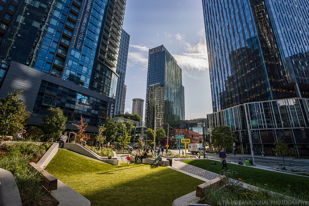 Urban Triangle Park, Downtown Seattle