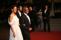 Egyptian actress Menna Shalaby, Egyptian director arriving at the gala screening of the film Baad El Mawkeaa at the 65th Cannes Film Festival. Thursday 17th May 2012, the red carpet at Palais Des Festivals in Cannes, France.