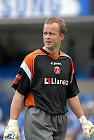 Photo: Ed Godden.<br /> Chelsea v Charlton Athletic. The Barclays Premiership. 09/09/2006. Charlton's substitute goalkeeper Thomas Myhre. Pictured warming up before the game.