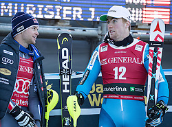 29.12.2016, Deborah Compagnoni Rennstrecke, Santa Caterina, ITA, FIS Ski Weltcup, Santa Caterina, alpine Kombination, Herren, Flower Zeremonie, im Bild Alexis Pinturault (FRA, 1. Platz), Aleksander Aamodt Kilde (NOR, 3. Platz) // race winner Alexis Pinturault of France, third placed Aleksander Aamodt Kilde of Norwayduring the Flowers ceremony for the men's Downhill of FIS Ski Alpine World Cup at the Deborah Compagnoni race course in Santa Caterina, Italy on 2016/12/29. EXPA Pictures © 2016, PhotoCredit: EXPA/ Johann Groder