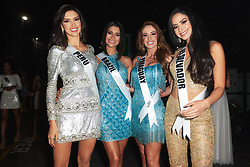 Kelin Rivera, Miss Peru 2019; Julia Horta, Miss Brazil 2019; Ketlin Lottermann, Miss Paraguay 2019; and Zuleika Soler, Miss El Salvador 2019; backstage during The MISS UNIVERSE® Competition airing on FOX at 7:00 PM ET on Sunday, December 8, 2019 live from Tyler Perry Studios in Atlanta. Contestants from around the globe have spent the last few weeks touring, filming, rehearsing and preparing to compete for the Miss Universe crown. HO/The Miss Universe Organization