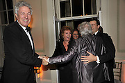 HENRY WYNDHAM; CILLA BLACK; NICKY HASLAM, Nicky Haslam party for Janet de Botton and to celebrate 25 years of his Design Company.  Parkstead House. Roehampton. London. 16 October 2008.  *** Local Caption *** -DO NOT ARCHIVE-© Copyright Photograph by Dafydd Jones. 248 Clapham Rd. London SW9 0PZ. Tel 0207 820 0771. www.dafjones.com.