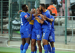 Cape Town-180224 Cape Town City players celebrating after Craig Martin scored in their PSL game in Athlone Picture Ayanda Ndamane/African News Agency/ANA