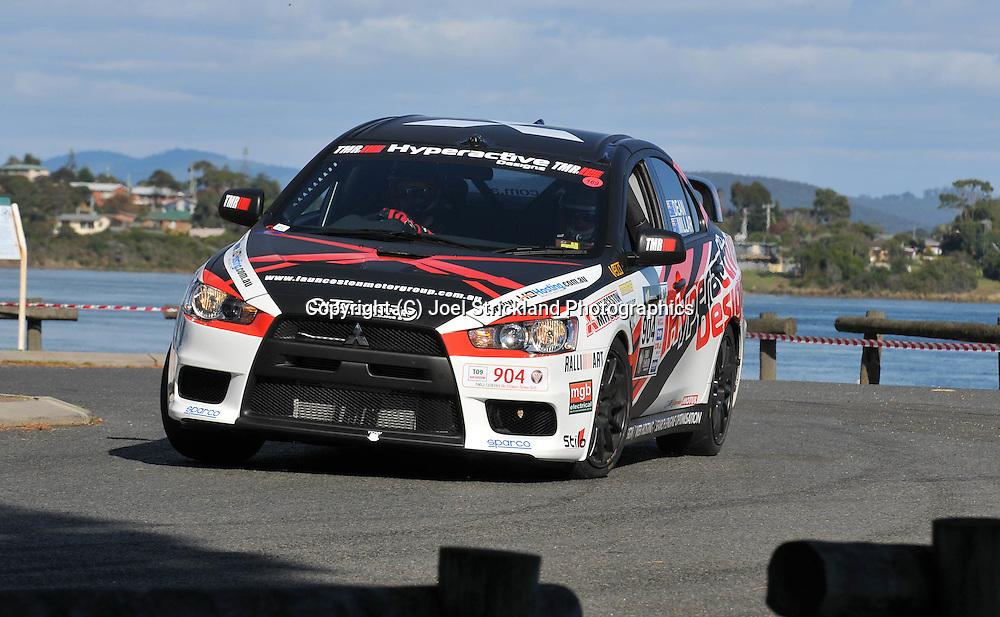 Scott Millar & Christopher Dean .2008 Mitsubishi Lancer Evolution X.Prologue.George Town.Targa Tasmania 2009.28th of April 2009.(C) Joel Strickland Photographics.