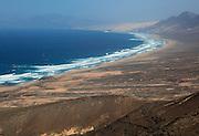 Cofete beach Atlantic Ocean coast, Jandia peninsula, Fuerteventura, Canary Islands, Spain