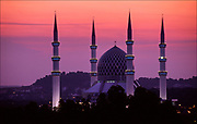 eaching for the heavens, the Sultan Salahuddin Abdul Aziz Shah Mosque dominates the skyline of Shah Alam, capital of Selangor State in Malaysia.  The mosque is a holy place of superlatives with 132-foot-high (40-meter high) minarets – some of the tallest in the world. © Steve Raymer 2002 / ALL RIGHTS RESERVED
