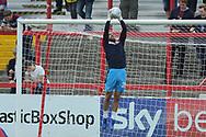 Scunthorpe United Goalkeeper and New Signing, Jak Alnwick (25) during the EFL Sky Bet League 1 match between Accrington Stanley and Scunthorpe United at the Fraser Eagle Stadium, Accrington, England on 1 September 2018.
