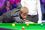 Jack Lisowski takes to the table during the final session of the World Snooker 19.com Scottish Open Final Mark Selby vs Jack Lisowski at the Emirates Arena, Glasgow, Scotland on 15 December 2019.