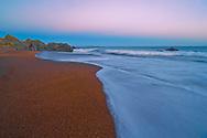 Riverton beach at dusk, South Otago. New Zealand