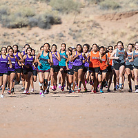 Girls varsity at the NMAA District 1-4A Championship meet at Red Rock Park Saturday.